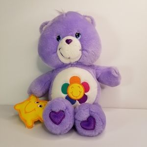 VINTAGE CARE BEARS HARMONY PURPLE BEAR PLUSH 2003